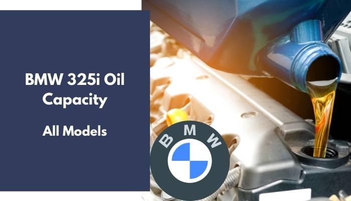 BMW 325i Oil Capacity