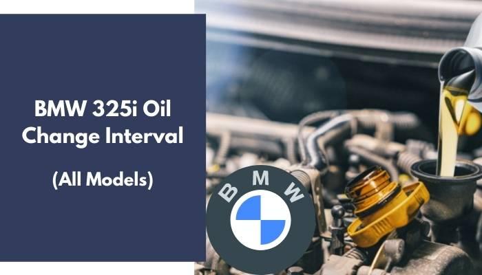 BMW 325i Oil Change Interval