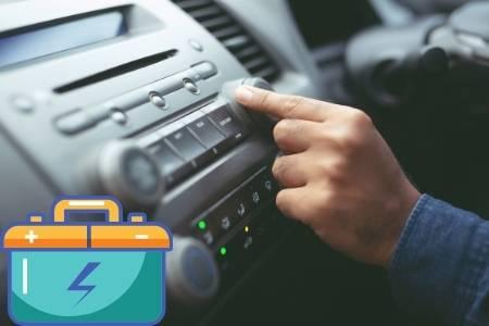 car radio and battery