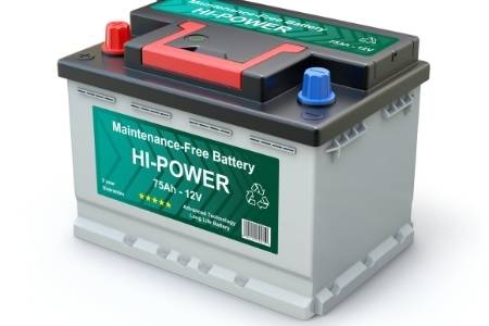 disconnected car battery