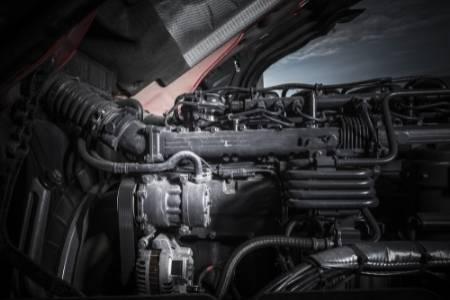 sitting diesel engine
