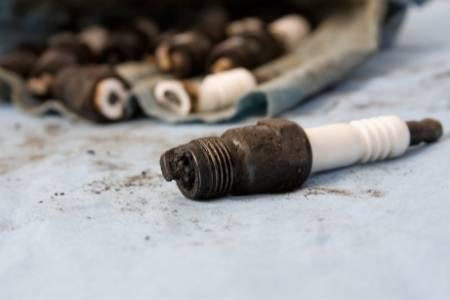 carbon on spark plug