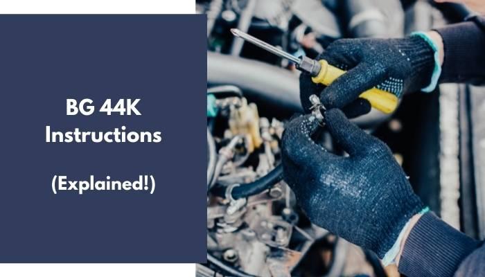 BG 44K Instructions